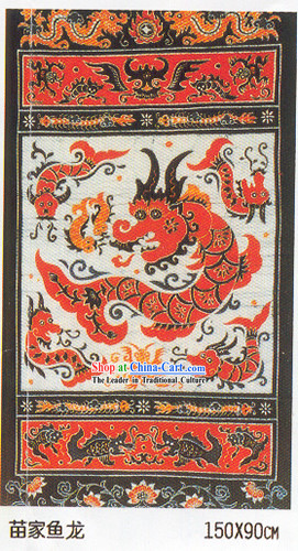 Batik Hanging-Ancient Dragon Fish