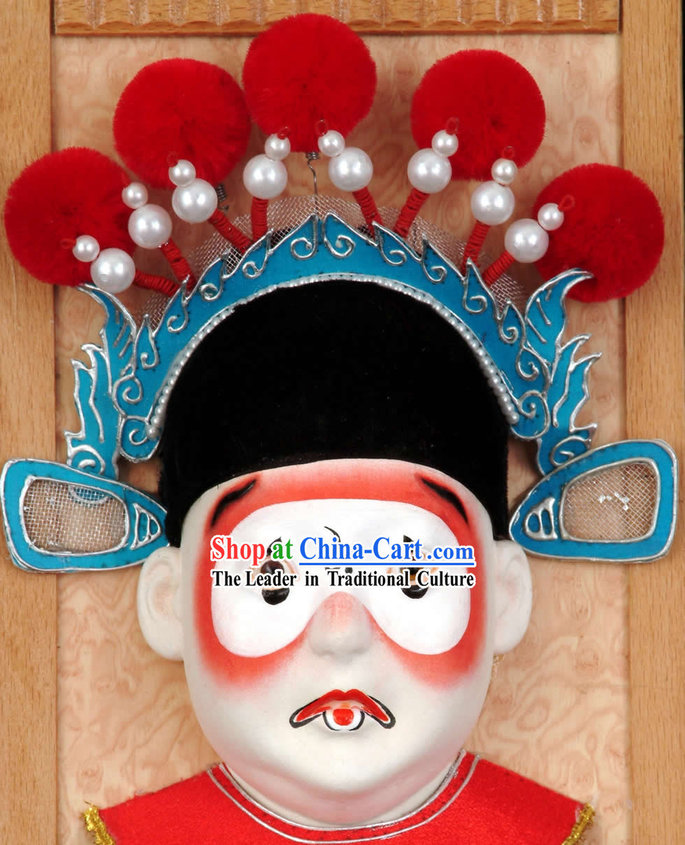 Handcrafted Peking Opera Mask Hanging Decoration - Chou Jue _Clown_