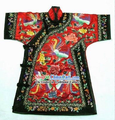 100% Hand Made Embroidery Phoenix Chinese Palce Empress Robe