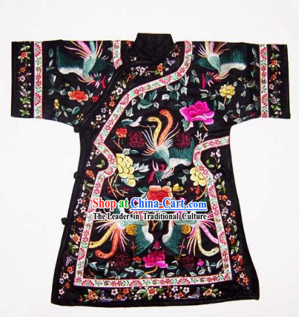 China 100_ Hand Made Embroidery Palace Robe of Chinese Empress