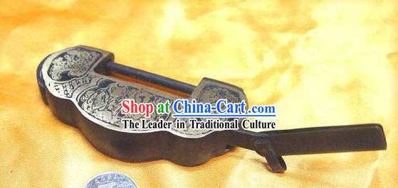 Chinese Palace Style Classic Small Yuan Bao Archaized Copper Lock