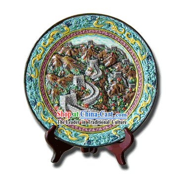 Chinese Cochin Ceramics-Great Wall Plate