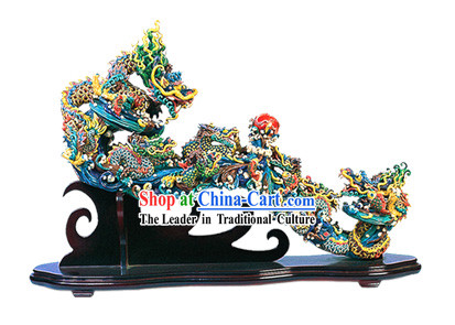 Chinese Cochin Ceramics-As Your Wishes Nine Dragons