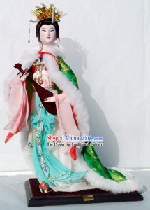 Handmade Peking Silk Figurine Doll - Wang Zhaojun