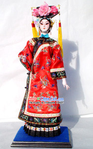 Handmade Peking Silk Figurine Doll - Ancient Empress
