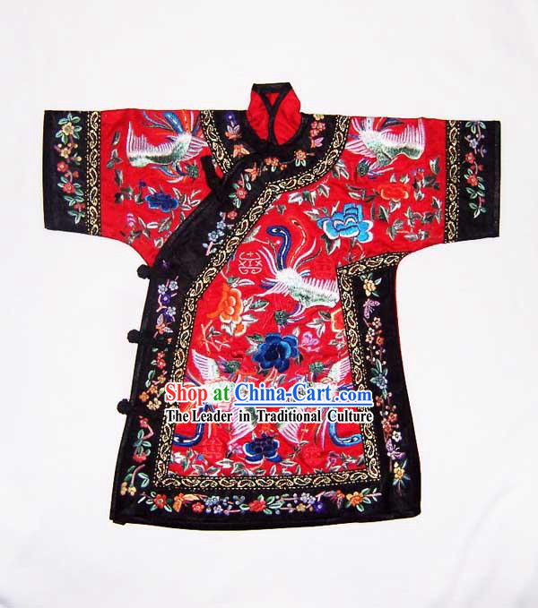 100% Hand Made Embroidery Red Chinese Empress's Robe