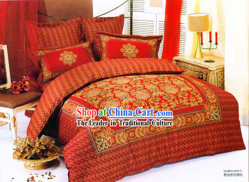 Chinese Traditional 100% Silk Embroidery Wedding Bed Sets