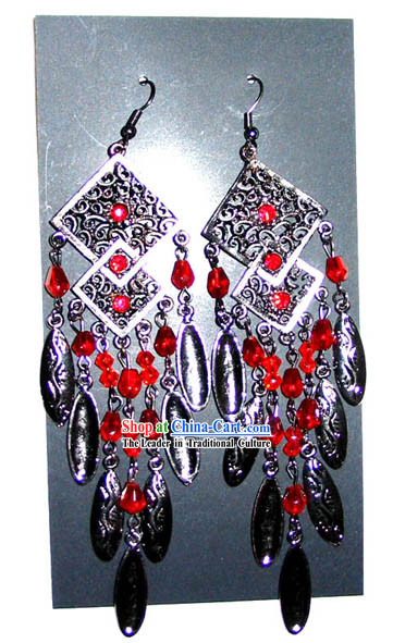 Tibet Stunning Silver Earrings