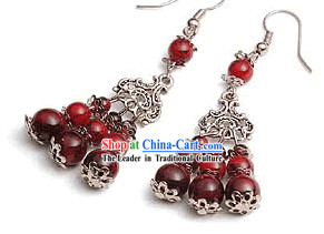 Tibet Silver Coral Earrings