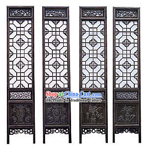 Noble Padauk Qing Dynasty Folding Screen
