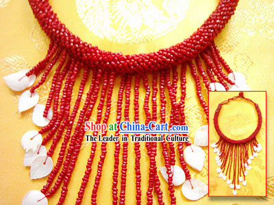 Tibet Natural Coral Shell Necklace