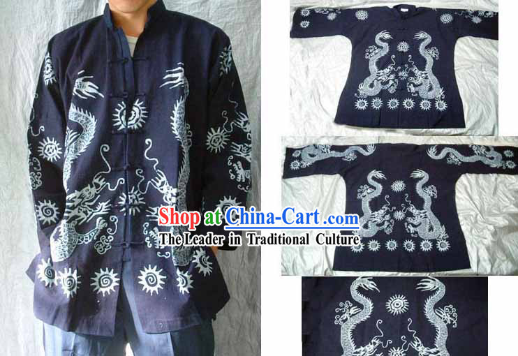 Hand Made Dragon Batik Clothes for Men