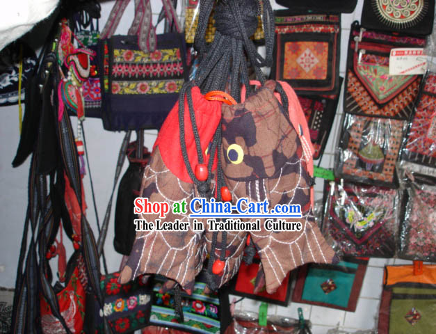 Chinese Hand Made Batik Fish Style Bag