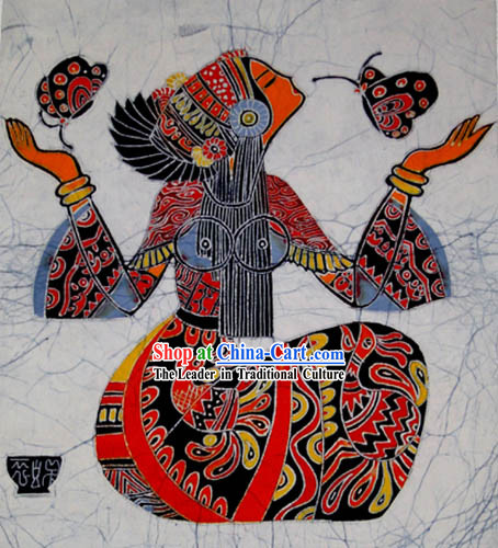 Chinese Batik Hanging-Butterfly Love