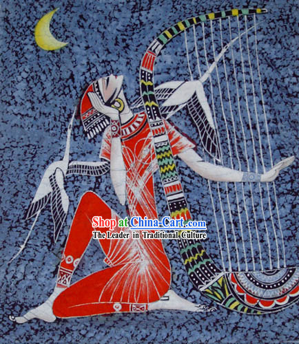 Hand Made Batik Hanging-Playing Harp