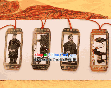 Chinese Classical Terra Cotta Warrior Metal Bookmark