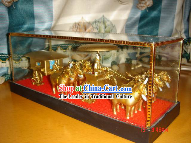 China Classical Terra Cotta Warrior-Brass Unit
