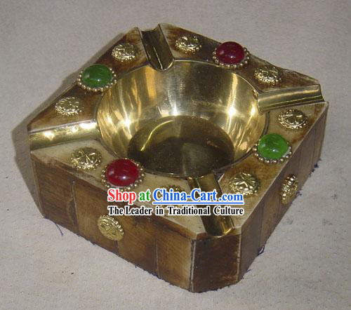 Yak Bone Copper Ashtray