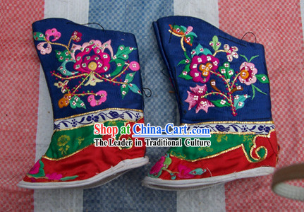 Chinese Hand Made Palace Emboridery Shoes