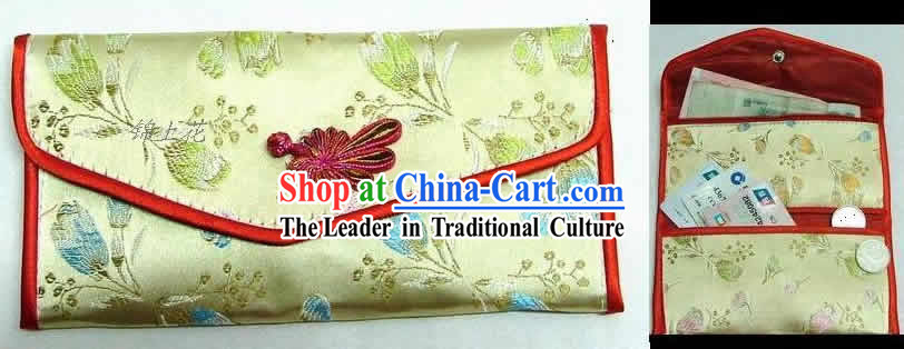 Chinese Classic Golden Flower Purse