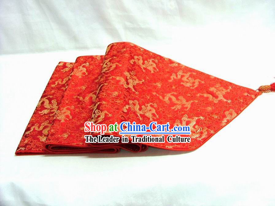 Chinese Classic Red Dragon Table Banner