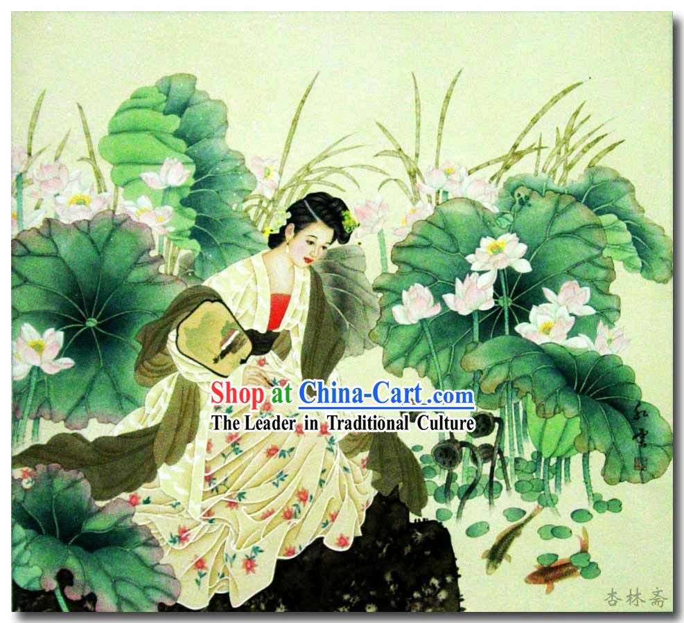 Chinese Classic Traditional Painting-Ancient Beauty Xi Shi
