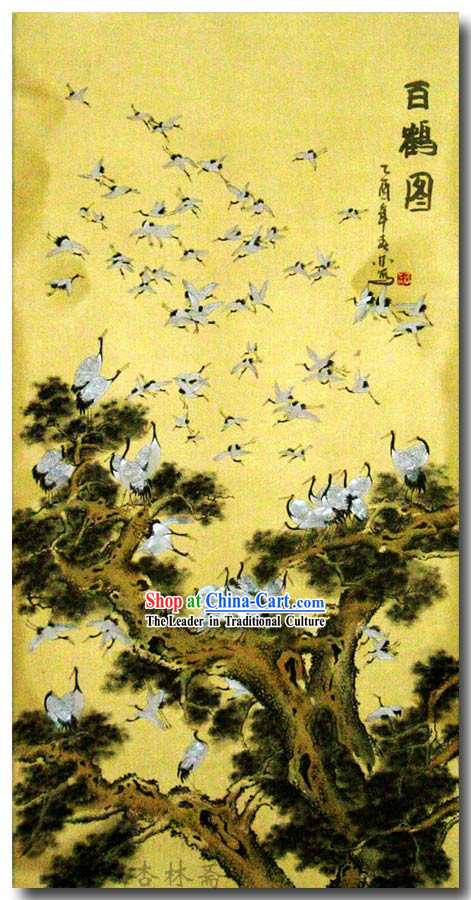 Chinese Classic Traditional Painting-Hundreds of Cranes