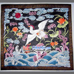 Qing Dynasty Seventh Grade Civilian Hand Embroidery Flake