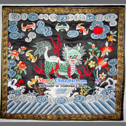 Qing Dynasty First Grade Military Government Offical Hand Embroidery Flake