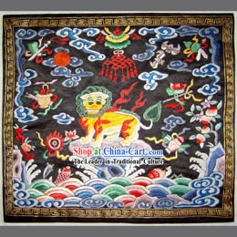 Qing Dynasty Second Grade Military Government Offical Hand Embroidery Flake