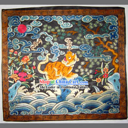 Qing Dynasty Fourth Grade Military Government Offical Hand Embroidery Flake