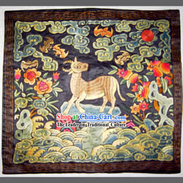 Qing Dynasty Eighth Grade Military Government Offical Hand Embroidery Flake