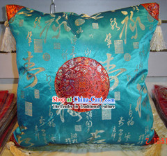 Chinese Classic Shou Silk Cushion