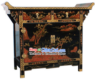 Chinese Palace Lacquer Ware Cabinet-Ancient Nature