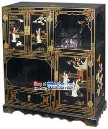 Chinese Large Palace Lacquer Ware Cabinet
