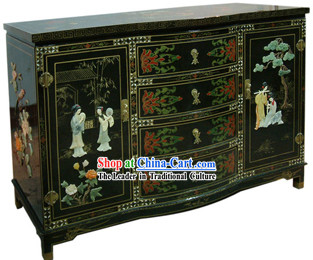Chinese Palace Lacquer Ware Cabinet-Ancient Stories