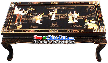 Chinese Palace Lacquer Ware Table Set-Ancient Fairies