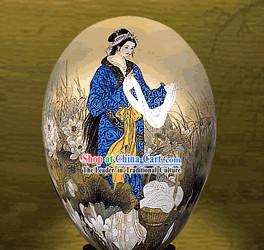 Unbelievable Hand Painted Colorful Egg-Xi Shi_one of four ancient beauties_