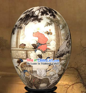 Chinese Wonders Hand Painted Colorful Egg-Heaven Fun of West Journey
