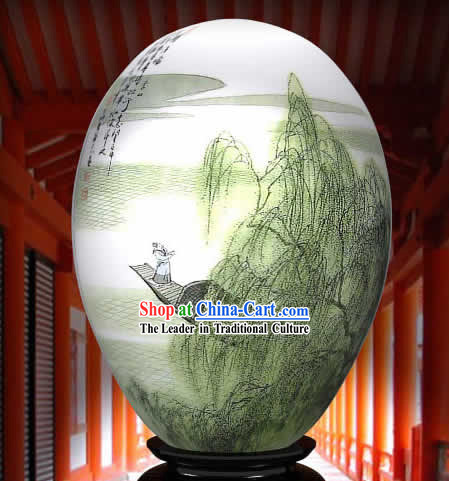 Chinese Wonders Hand Painted Colorful Egg-Su Dongpo Poet
