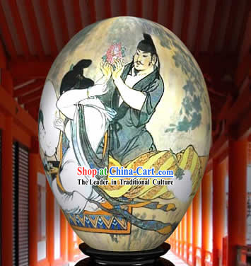 Chinese Wonder Hand Painted Colorful Egg-Love Painting