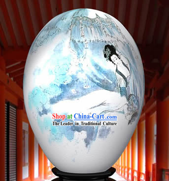 Chinese Wonder Hand Painted Colorful Egg-Beautiful Ancient Angel Painting