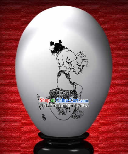 Chinese Wonder Hand Painted Colorful Egg-Yu Chai of The Dream of Red Chamber