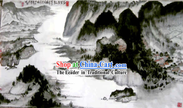 Chinese Yangtze River Painting by Ma Quansheng