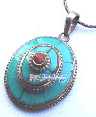 Tibet Silver Natural Beryl Necklace