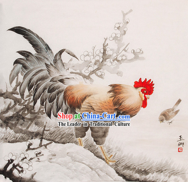Chinese Traditional Painting-Happy Chicken