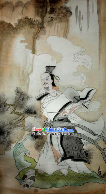 Chinese Traditional Painting-Li Bai Poet Got Drunk