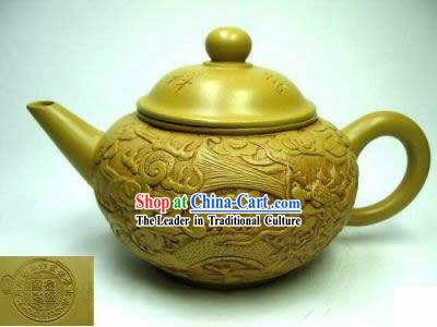 Chinese Hand Carved Zisha Teapot-As You Wish