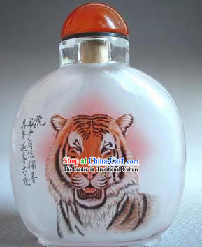 Snuff Bottles With Inside Painting Chinese Zodiac Series-Tiger