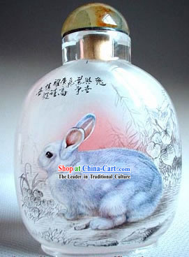 Snuff Bottles With Inside Painting Chinese Zodiac Series-Rabbit